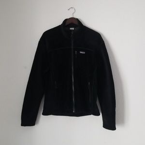 Patagonia black fleece zip up jacket